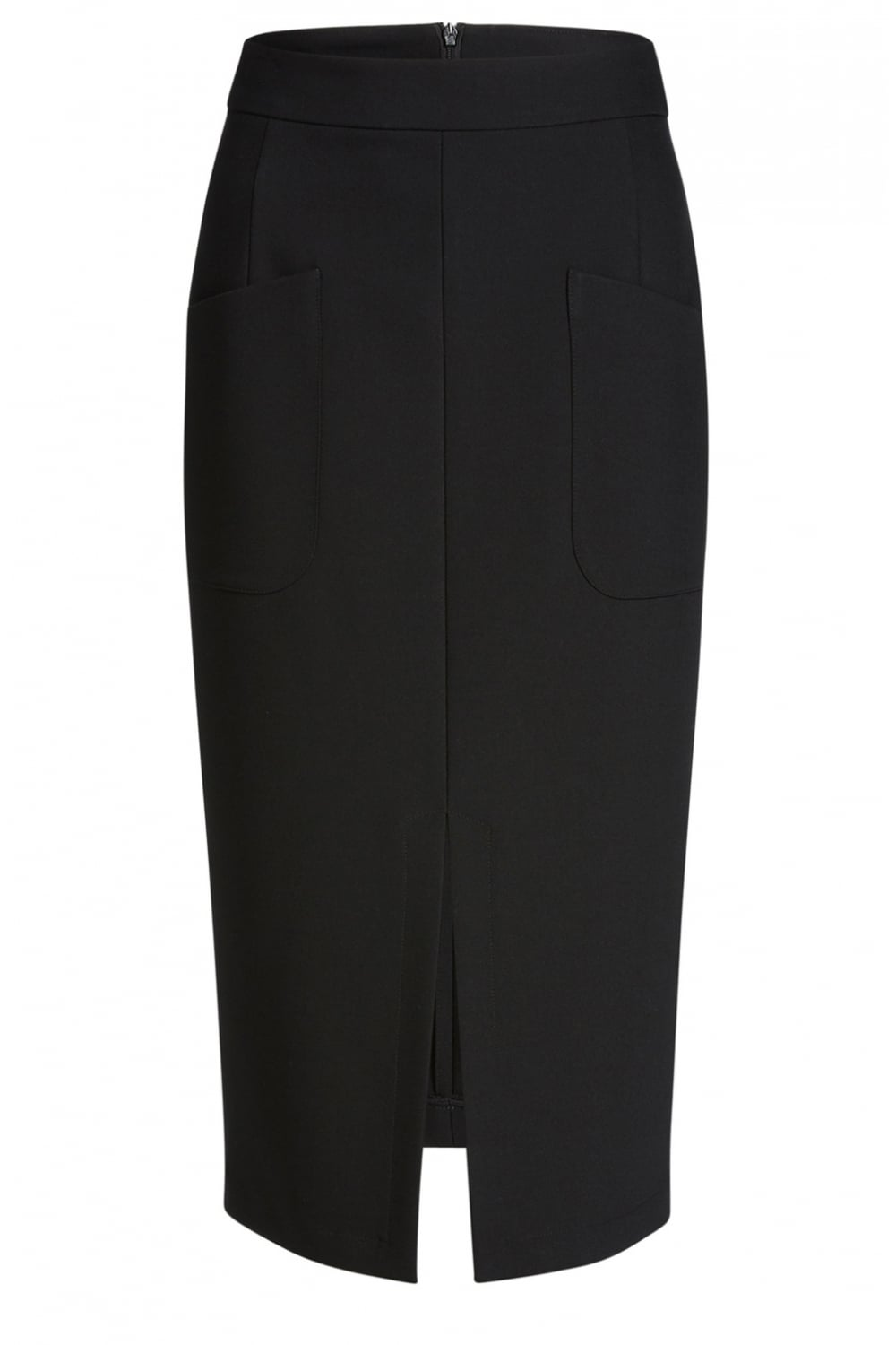 Oui Black Fitted Midi Skirt - Oui from Shirt Sleeves UK