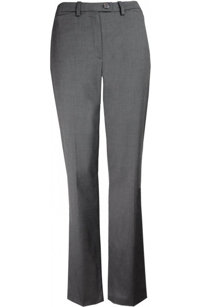 Grey Straight Leg Trousers