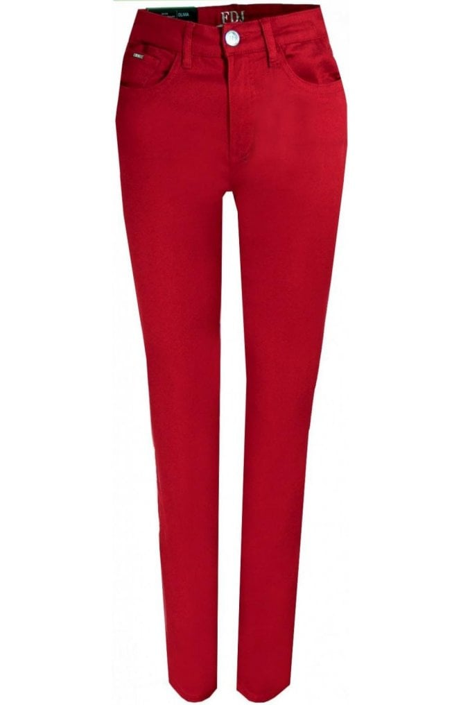 French Dressing Jeans Olivia slim leg - Red
