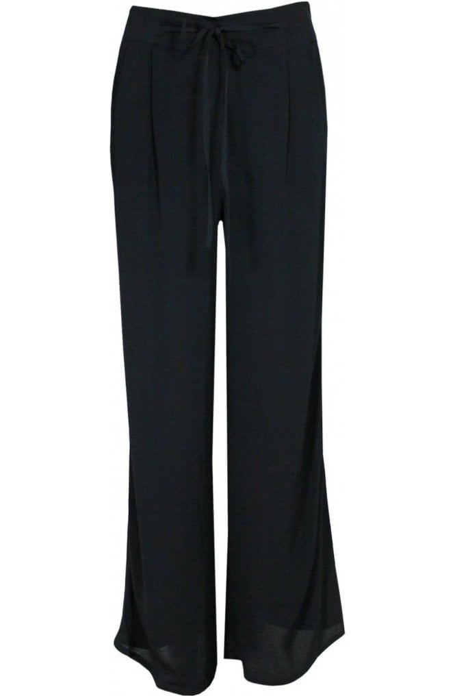 Fransa Black Wide Leg Trousers
