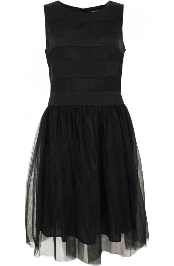 Inwear Black Lace Detailed Skater Dress