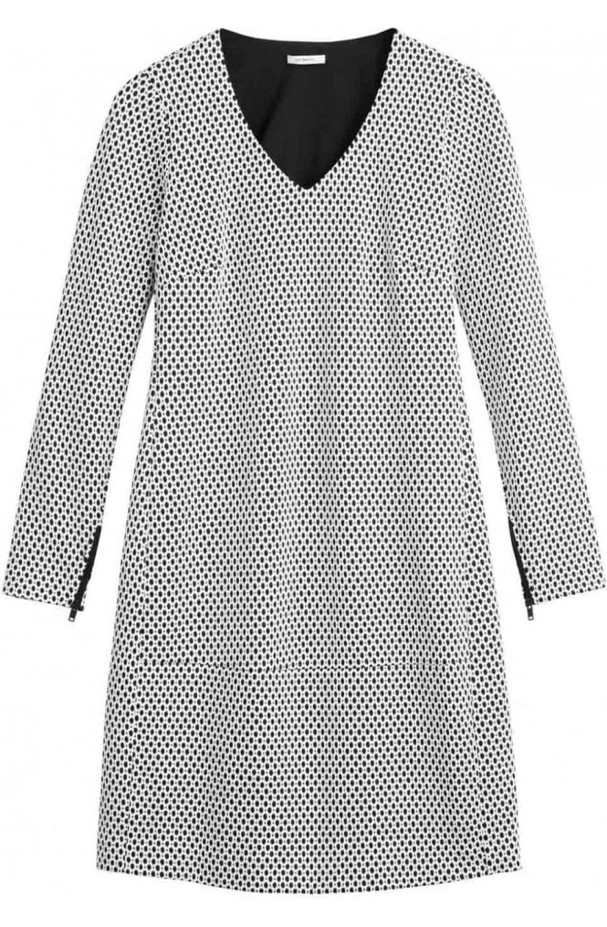 Sandwich Clothing Black & White Patterned Dress