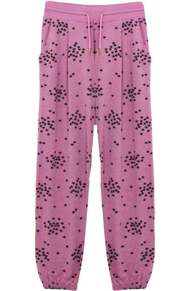 A Postcard from Brighton Pink Star Print Jersey Trousers