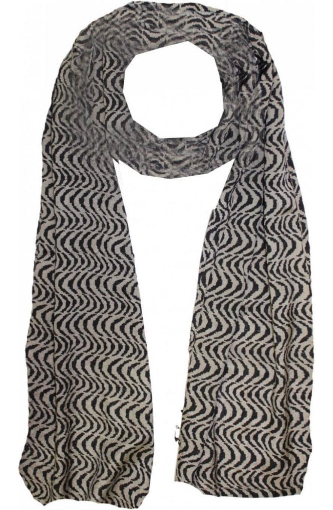 Masai Clothing Along khaki and black Scarf