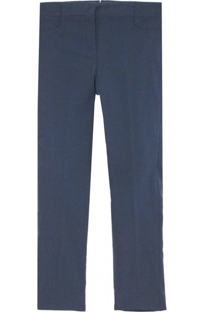 Lauren Vidal Navy Slim Fit Cropped Trousers