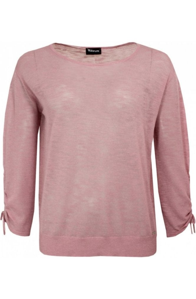 Taifun Pink Fine Knit Sweater