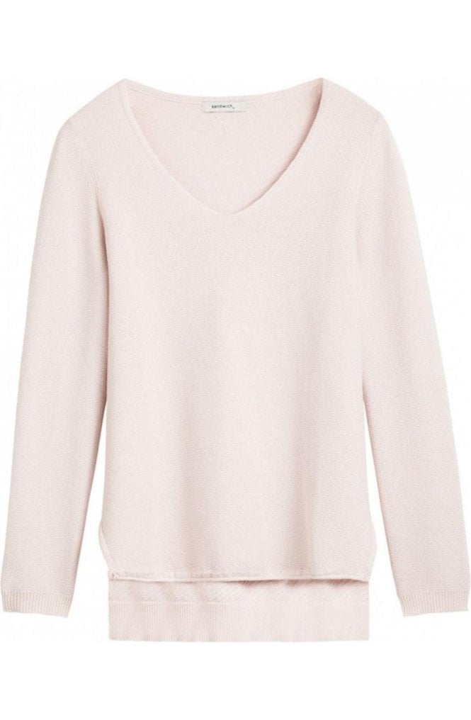 Sandwich Clothing Pale Pink Sweater