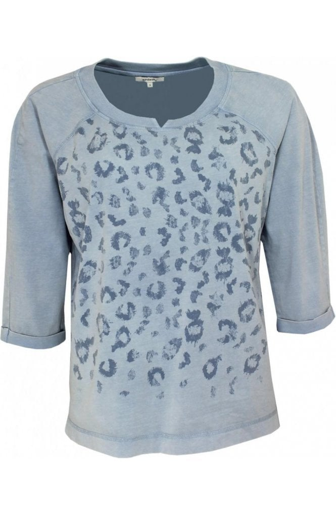 Sandwich Clothing Pale Blue Animal Print Sweatshirt