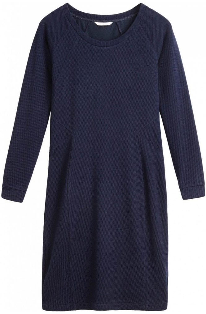 Sandwich Clothing Textured Navy Shift Dress