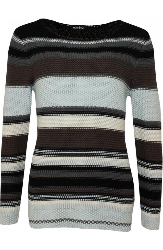 Marble fashion Striped Knit Sweater