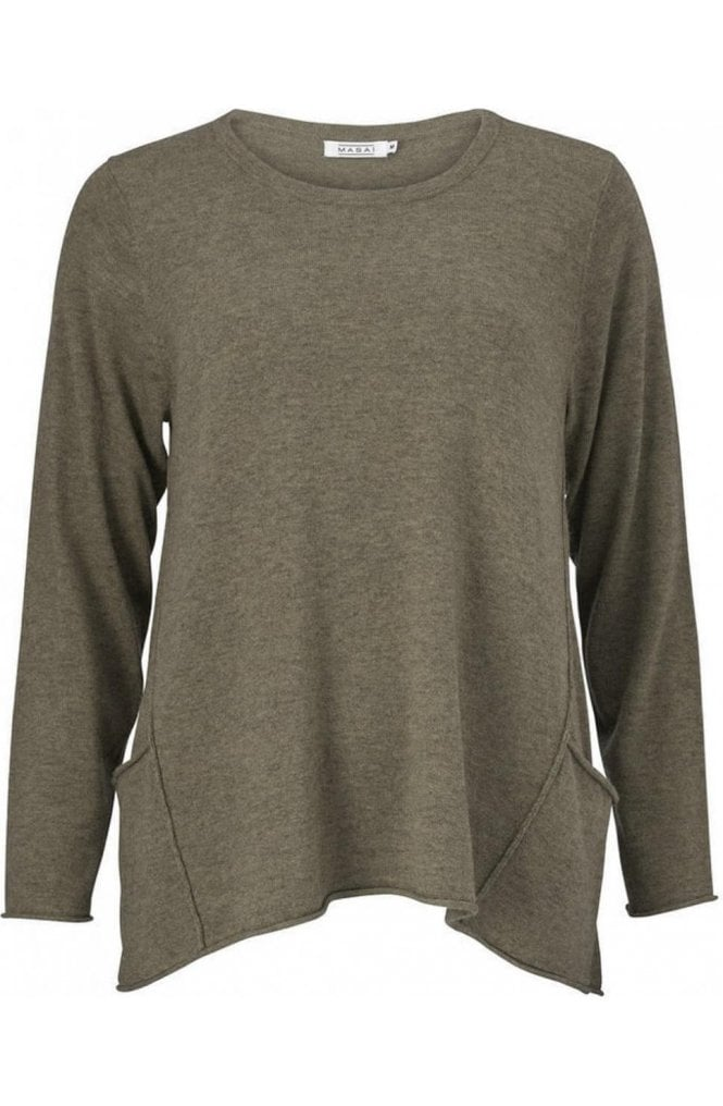 Masai Clothing Funda Khaki Knit Sweater