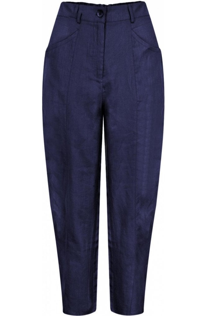 Masai Clothing Page Navy Crop Trousers