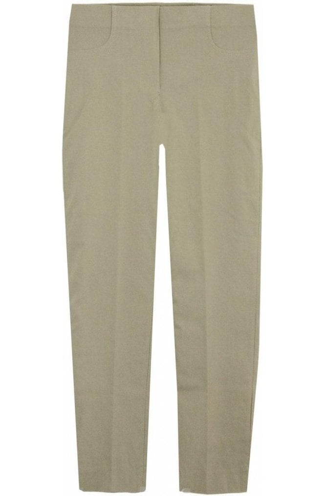 Lauren Vidal Beige Slim Leg Cropped Trousers