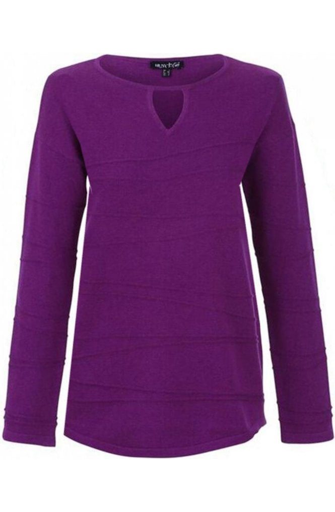 Marble fashion Purple cotton Sweater