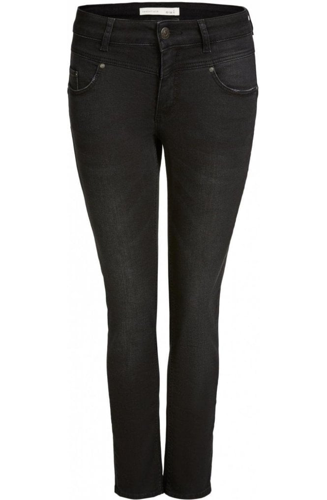 Oui Dark Grey Newport Jeans