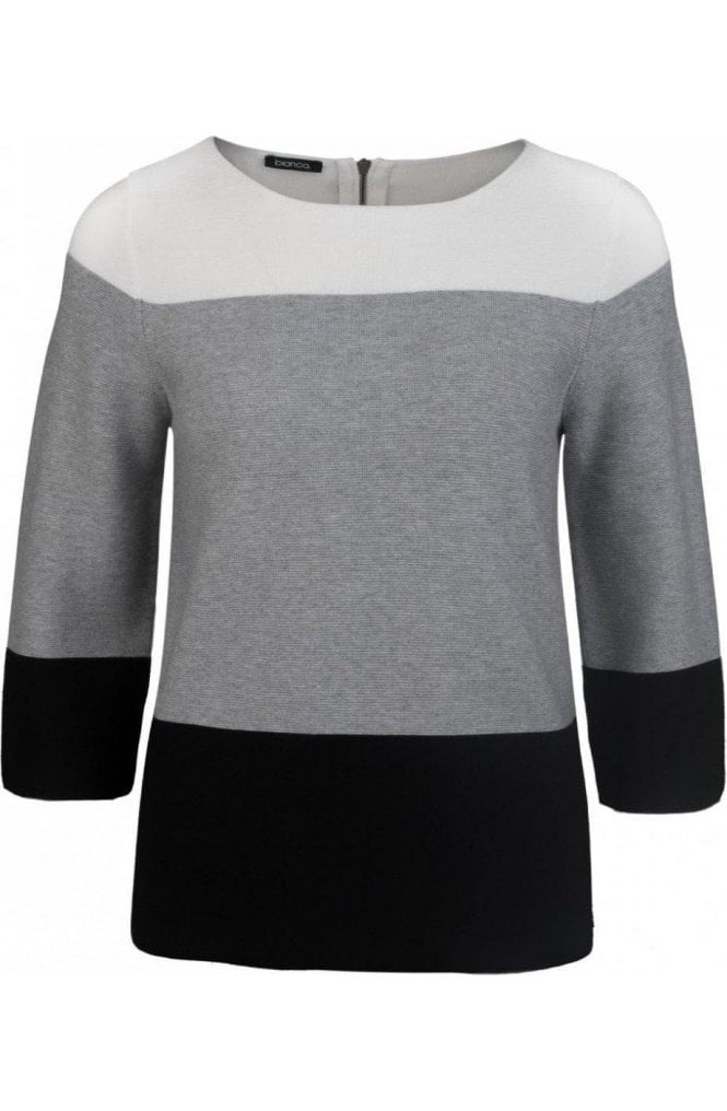 Bianca Block Design Sweater