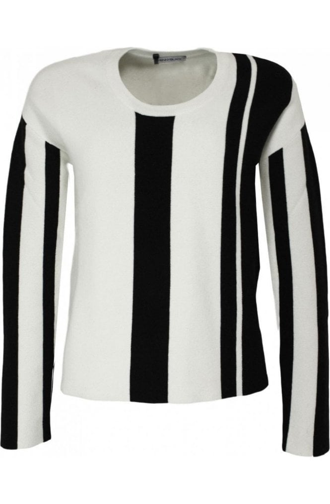 Pennyblack Obliquo Striped Design Sweater