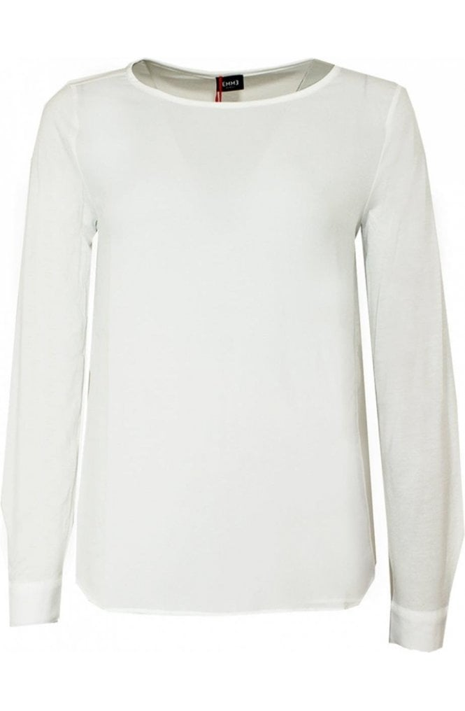 Emme Marella Off White Chiffon Front Top
