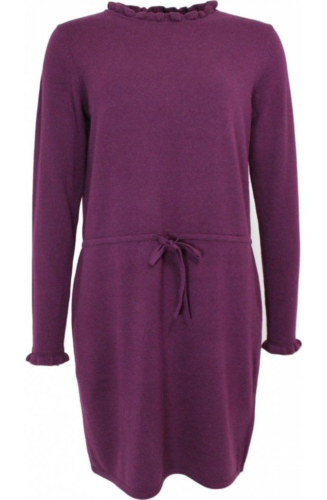 Oui Purple Fine Knit Dress
