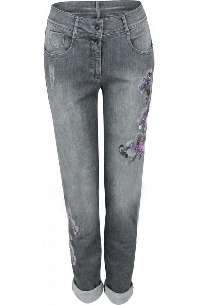 Bianca Embroidered Detailed Jeans