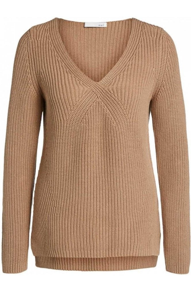 Oui Tigers Eye Ribbed Knit Sweater