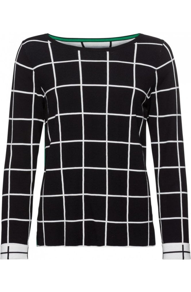 Bianca Check Print Sweater