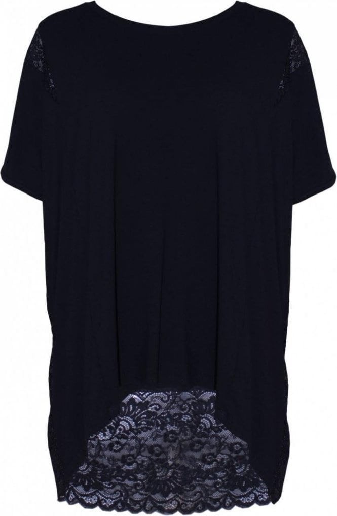 A Postcard from Brighton Black Lace Panel Top