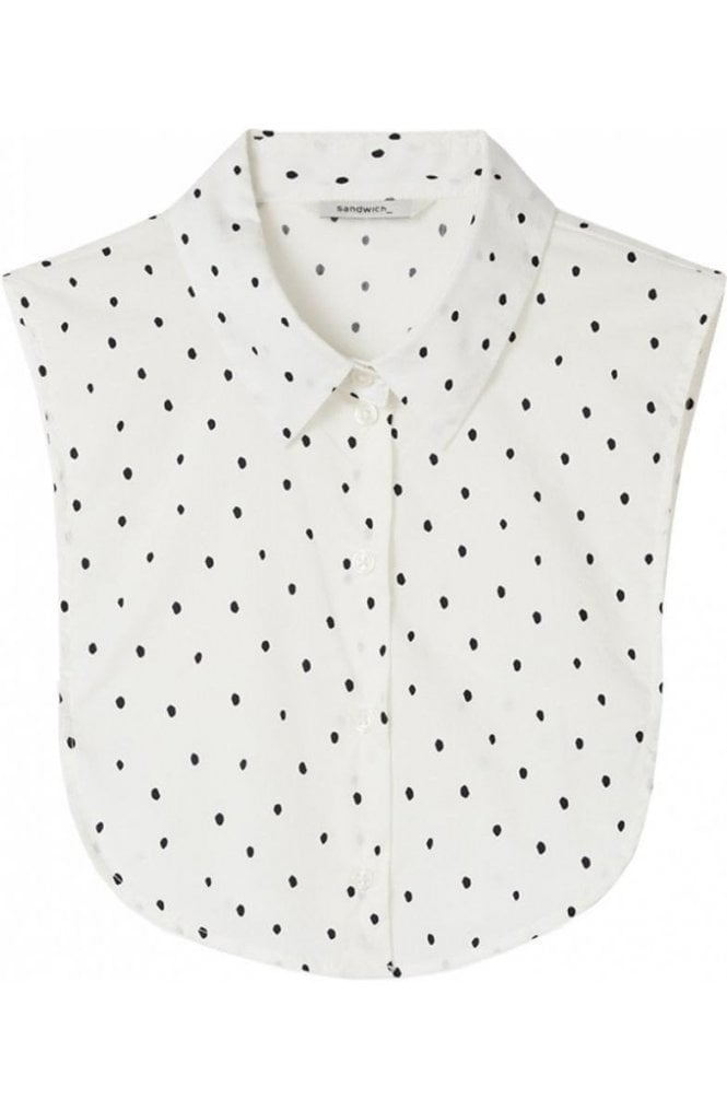 Sandwich Clothing Spring White Spot Shirt Collar