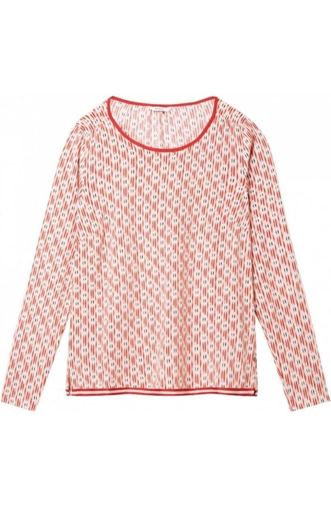 Sandwich Clothing Washed Rose Patterned Blouse