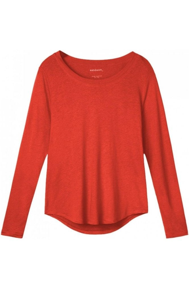 Sandwich Clothing Burnt Red Jersey Top