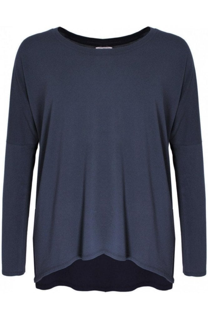 A Postcard from Brighton Karma Charcoal over sized Top