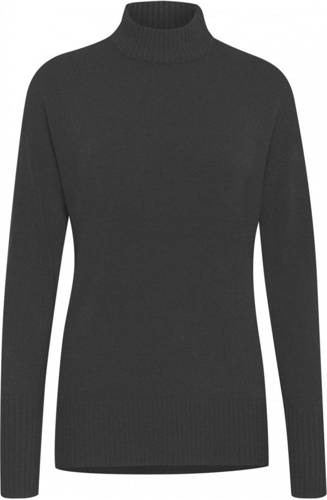b.young Black High Neck Jumper