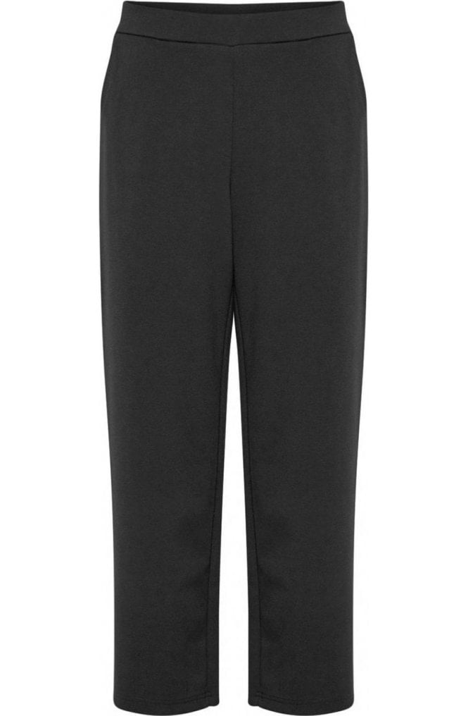 b.young Black Wide Leg Jersey Culottes