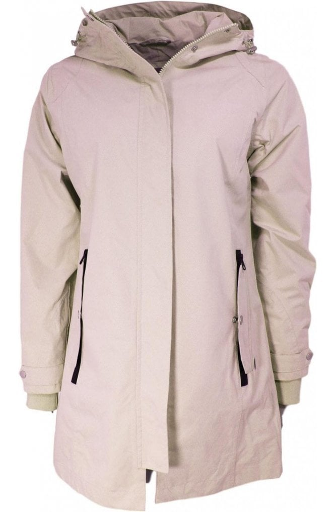 b.young Nude Waterproof Hooded Coat