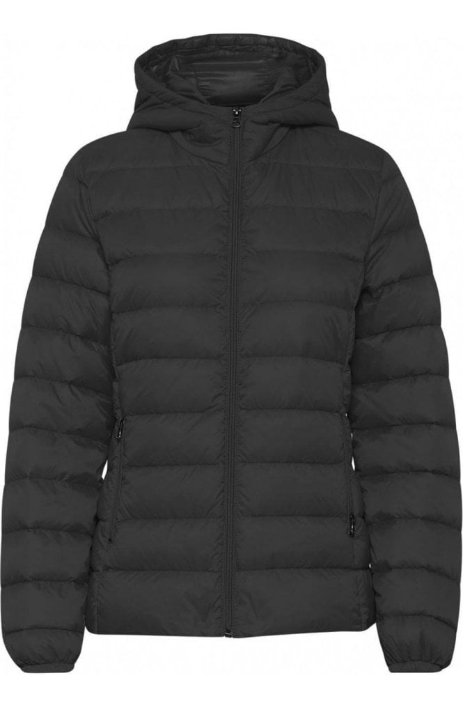 b.young Black quilted jacket