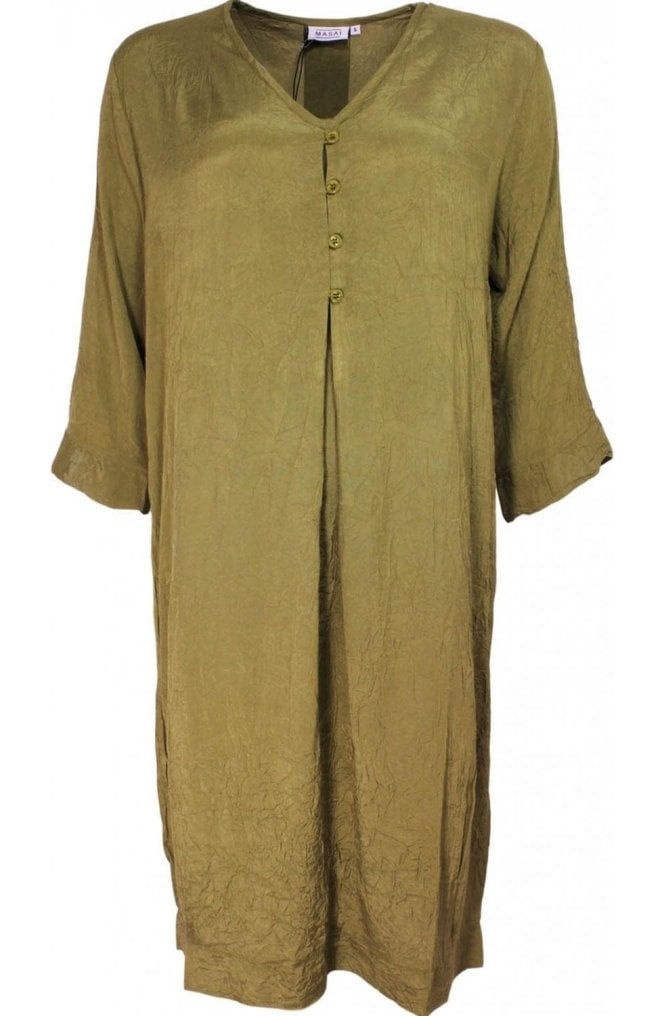 Masai Clothing Nahia Army Green Dress