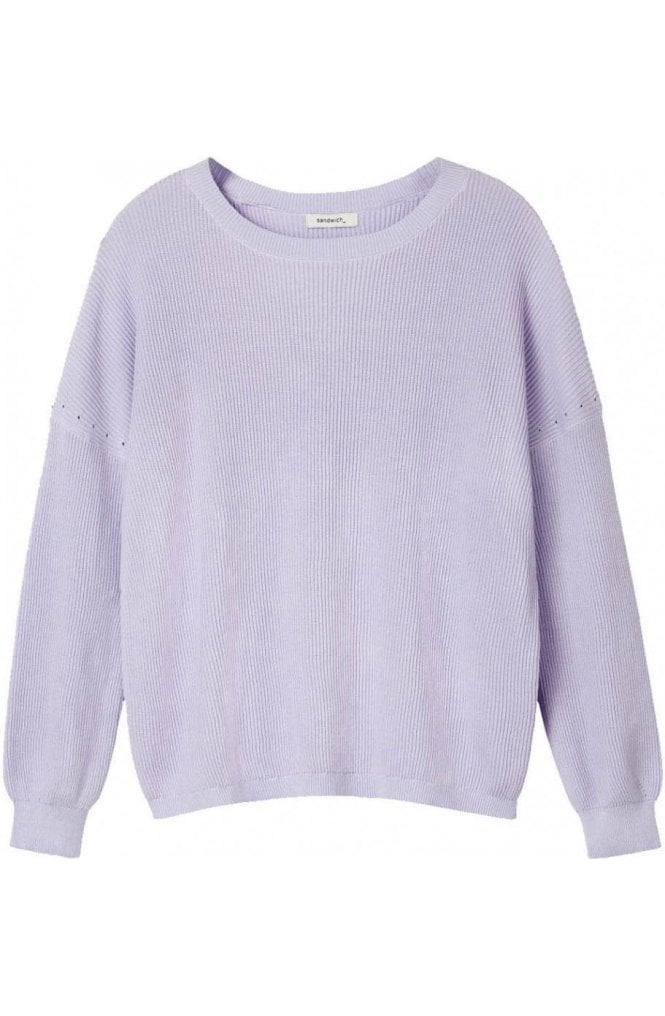 Sandwich Clothing Lilac Ribbed Knit Jumper