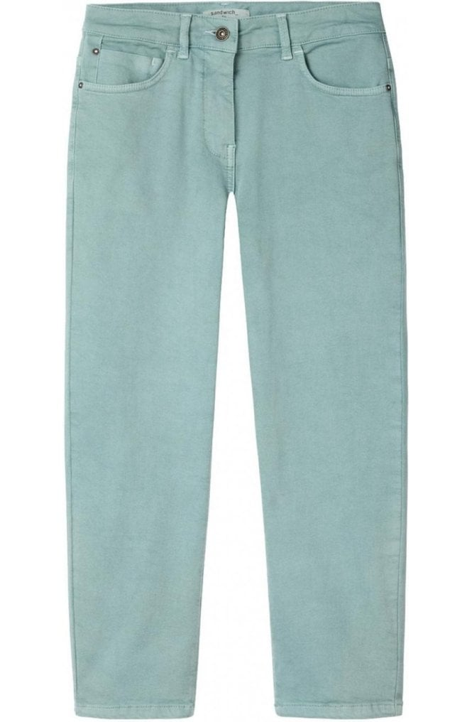 Sandwich Clothing Anise Green Cropped Trousers