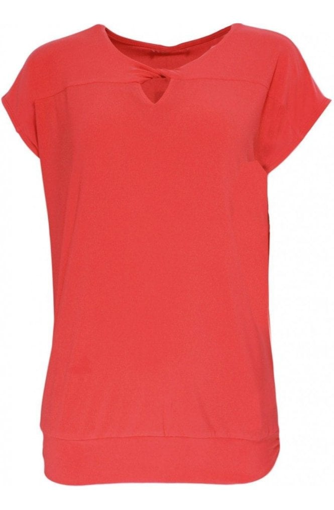 Bianca Orange Key Hole Detailed Top