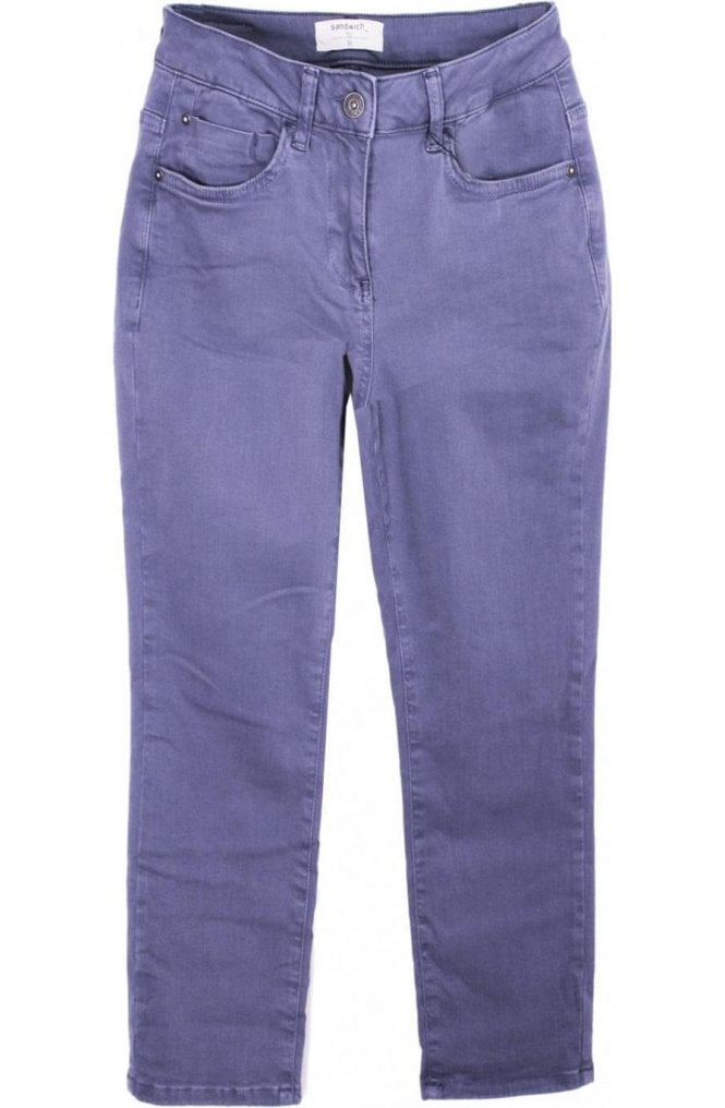 Sandwich Clothing Deep Lilac Cropped Trousers