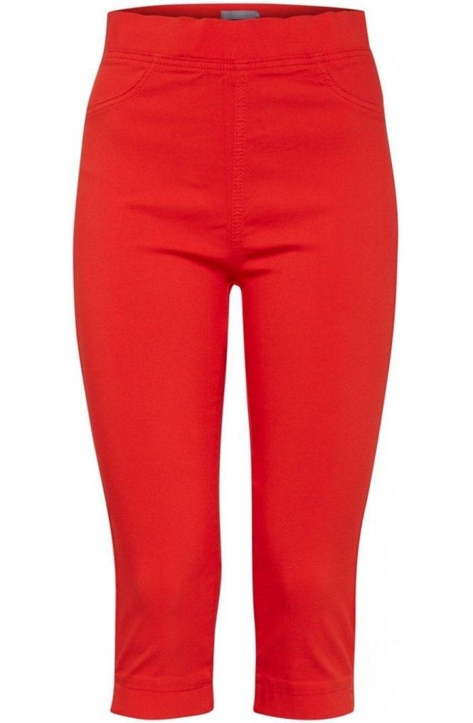 b.young Spiced Red Cropped Jeggings