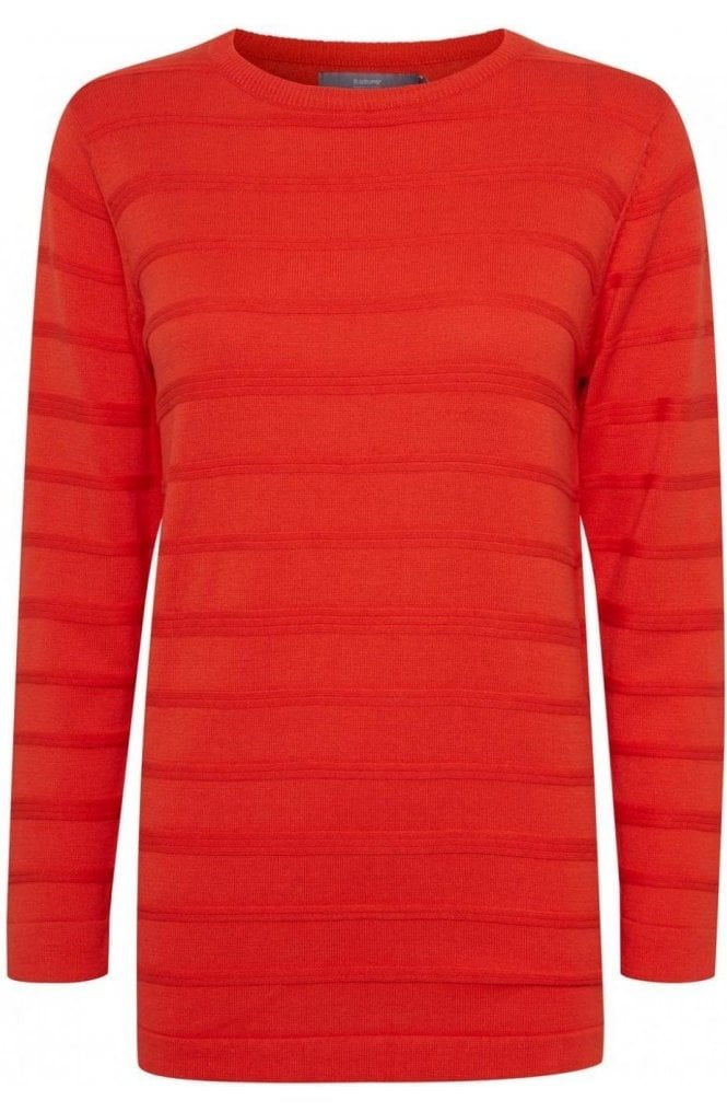 b.young Spiced Red Knit Jumper