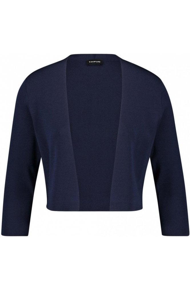 Taifun Navy Fine Knit Jacket