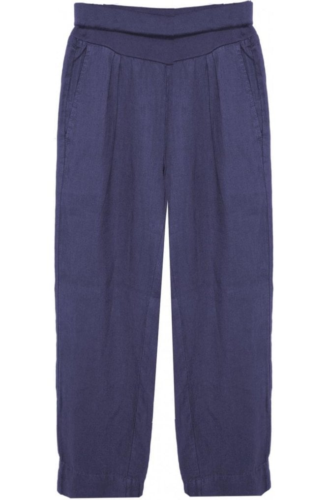 Sandwich Clothing Navy Linen Culottes