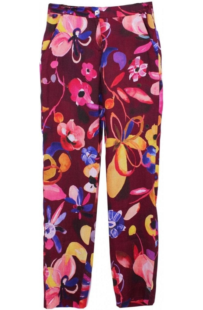 Backstage clothing Bold Floral Print Trousers