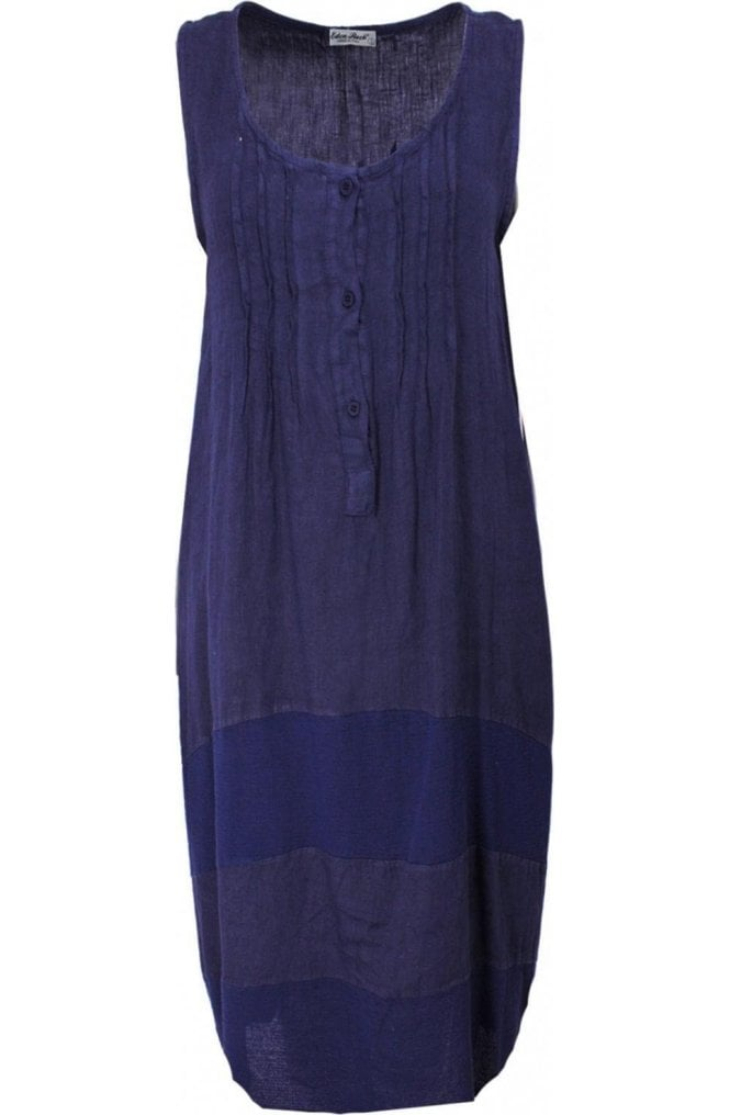 Eden Rock Navy Linen Dress