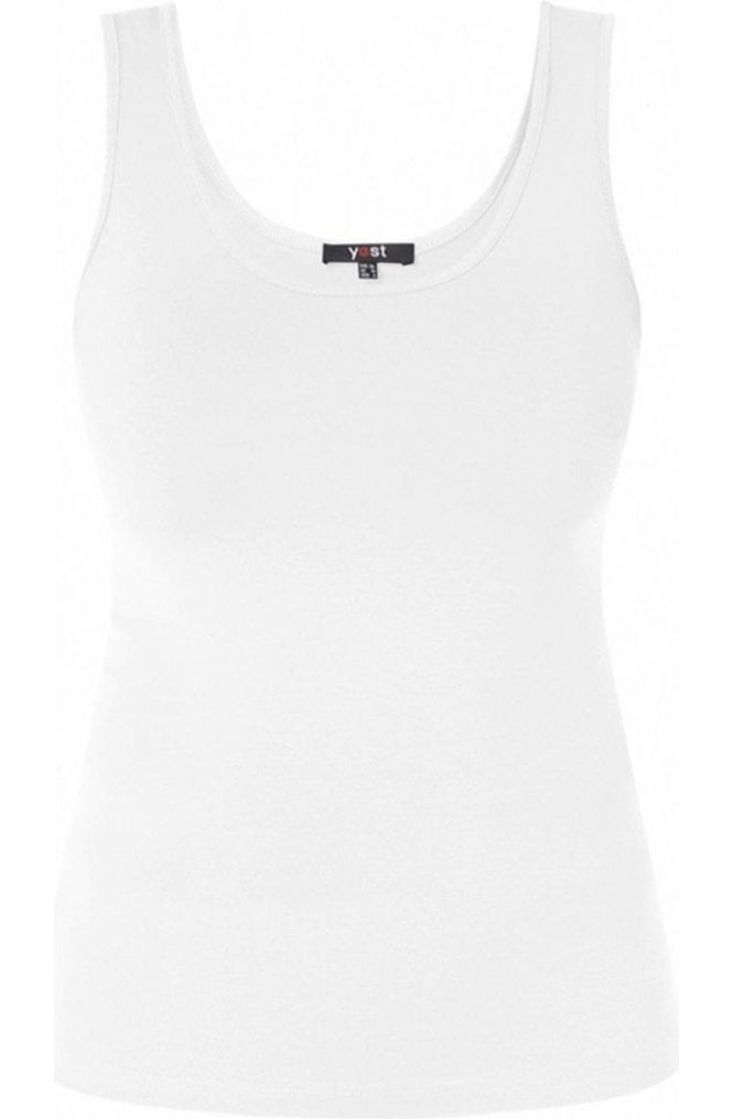 Yest White Jersey Vest Top