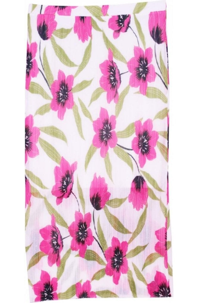 A Postcard from Brighton Fae Floral Print Pleated Skirt