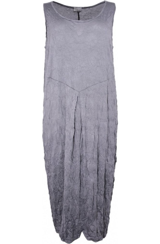 Thing Grey Crinkle Jersey Dress