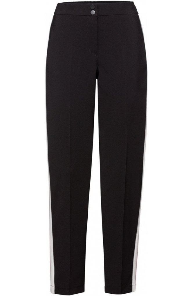 Bianca Black Stripe Detailed Trousers